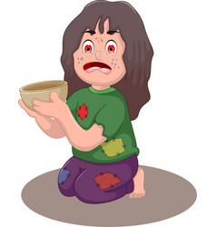 beggar man cartoon for you design vector image vector image