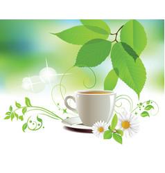 cap of tea vector image