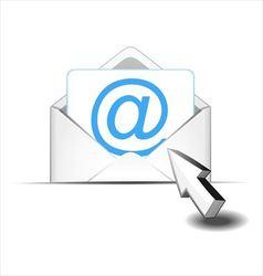 Click e mail vector image vector image