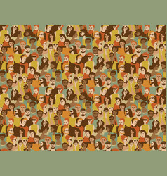 different people crowd seamless pattern vector image vector image