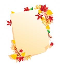 leaf blank vector image vector image