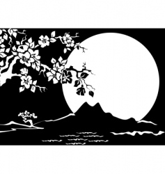 oriental graphic vector image