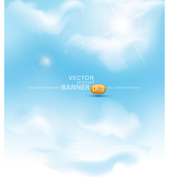 sky with sun ray vector image vector image