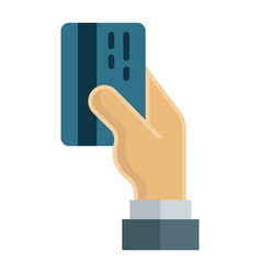 Credit card payment flat icon business finance vector
