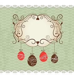 Elegance frame greeting Easter card vector image vector image