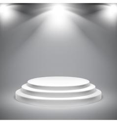 Round White Podium vector image vector image