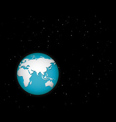 world in space with many stars vector image vector image