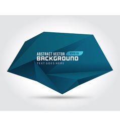 Abstract geometric 3d dark shape background vector image
