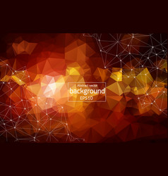 abstract orange light geometric polygonal vector image