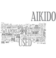 Aikido weapon text word cloud concept vector