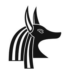 Ancient egyptian god Anubis icon simple style vector image