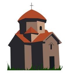 Armenian church on white background vector
