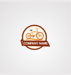 badge bike logo icon element and template for vector image