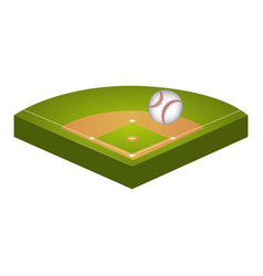 Baseball diamond field icon vector
