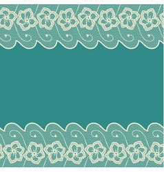 Blue background with two lacy borders vector