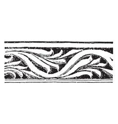 Border have carved vine at st vitale vintage vector