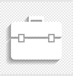 Briefcase sign white icon vector