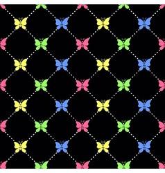 Candy butterflies pattern vector