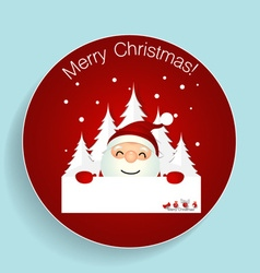 Christmas Greeting Card with Christmas Santa Claus vector