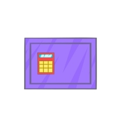Closed safe icon in cartoon style vector