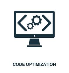 code optimization icon line style icon design ui vector image