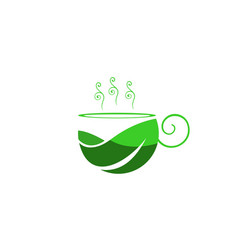 coffee mug leaf vector image