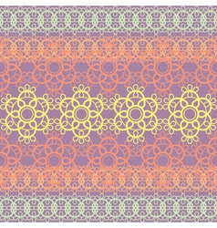 Colorful lace pattern vector