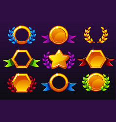 Coloured templates for awards creating icons vector
