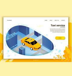 Concept taxi cab riding for client vector