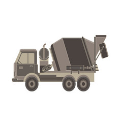 Concrete mixer icon truck with special equipment vector