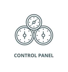 control panel line icon linear concept vector image