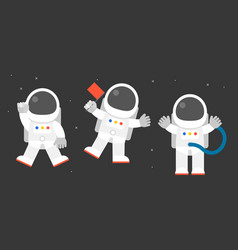 Cute astronaut in various post vector