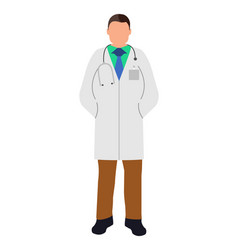 Doctor flat icon service 911 cartoon vector