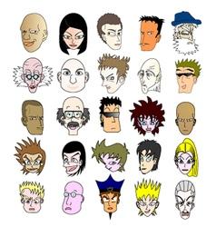 Faces set collection vector