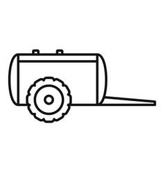 Farm trail cistern icon outline style vector