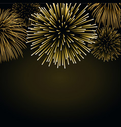 Firework gold sparkle background card beautiful vector