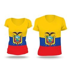 Flag shirt design of Ecuador vector image