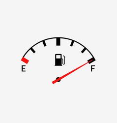 fuel indicators gas meter gauge tank full vector image