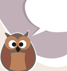Funny cute talking owl vector
