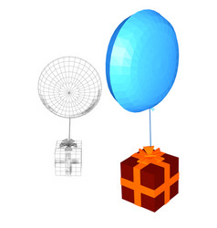 gift and balloon vector image