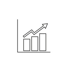 growing schedule icon vector image