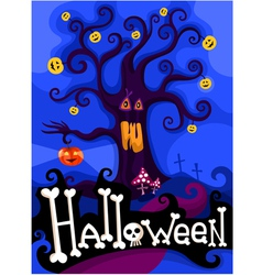 Hallowen card vector
