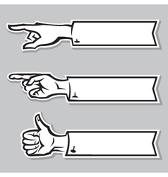hands of the human vector image