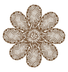 Henna Tattoo Mandala vector image