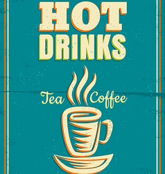 hot drinks vector image