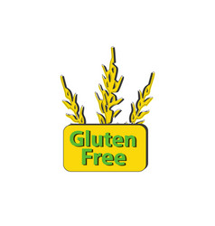 Icon gluten free sign spikes of cereals wheat vector