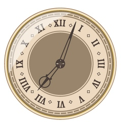 Isolated old clock vector