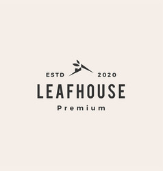 leaf house home mortgage roarchitect hipster vector image