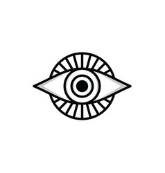 one eye sign symbol logo logotype vector image