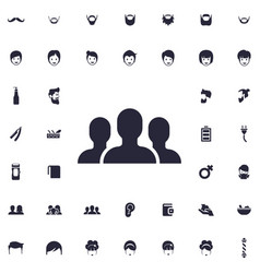 People group icon vector